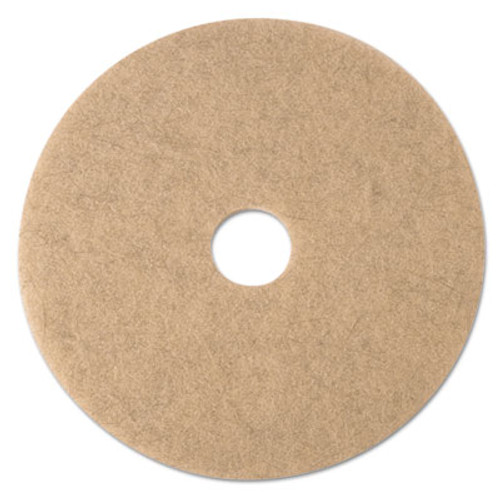 "3M Ultra High-Speed Natural Blend Floor Burnishing Pads 3500, 21"" Dia., Tan, 5/CT (MMM19009)"