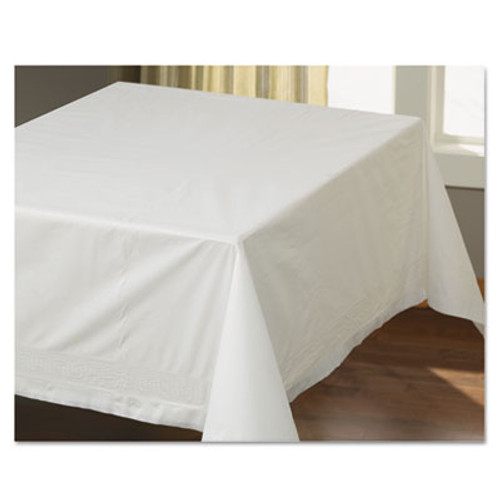 "Hoffmaster Tissue/Poly Tablecovers, 54"" x 54"", White, 40/Carton (HFM63013)"