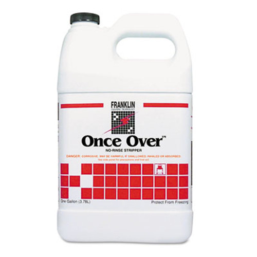 Franklin Cleaning Technology Once Over Floor Stripper, Mint Scent, Liquid, 1 gal. Bottle, 4/Carton (FKLF200022)