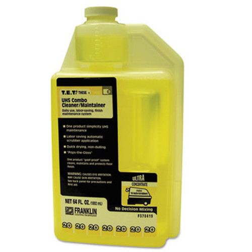 Franklin Cleaning Technology T.E.T. #20 UHS Combo Floor Cleaner/Maintainer, Citrus Scent, 2qt. Bottle, 2/CT (FKLF378419)