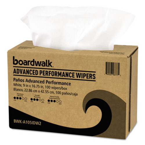 Boardwalk Sontara Wipers, White, 9 x 16 3/4, 10 Pack Dispensers of 100, 1000/Carton (BWKA105IDW2)