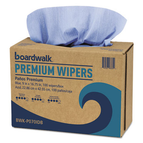 Boardwalk Hydrospun Wipers, Blue, 9 x 16 3/4, 1000/Carton (BWKP070IDB)
