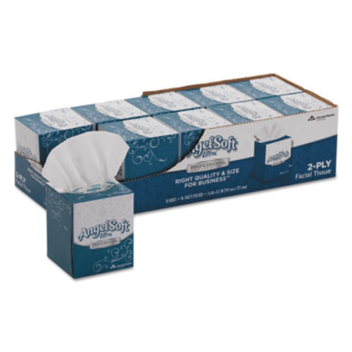Angel Soft ps Ultra Facial Tissue, 2-Ply, White, 7 3/5 x 8 1/2, 96/Box, 10 Boxes/Carton (GPC4636014)