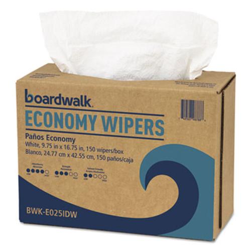 Boardwalk Scrim Wipers, 4-Ply, White, 9 3/4 x 16 3/4, 900/Carton (BWKE025IDW)