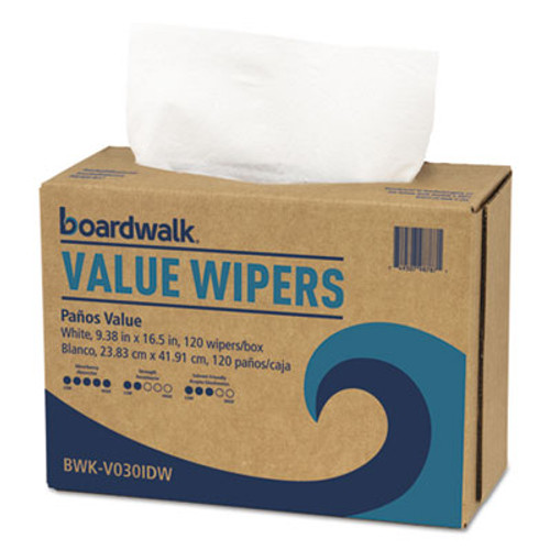 Boardwalk DRC Wipers, White, 9 1/3 x 16 1/2, 9 Dispensers of 100, 900/Carton (BWKV030IDW2)