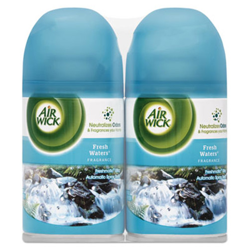 Air Wick Freshmatic Ultra Spray Refill, Fresh Waters, Aerosol,  6.17 oz, 2/PK, 3 PK/CT (RAC82093CT)