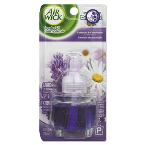 Air Wick Scented Oil Refill, Lavender & Chamomile, 0.67oz, Purple, 8/CT (RAC78297CT)