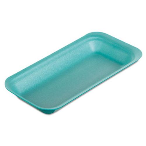 "Genpak Supermarket Trays, Foam, Green, 8 3/8"" x 3 3/8 x 7/8"", 500/Carton (GNP1115GN)"