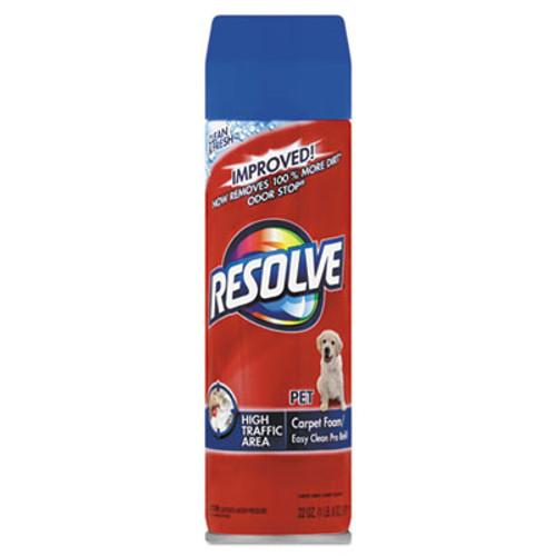 RESOLVE Pet High Traffic Foam Carpet and Upholstery Cleaner, 22 oz, Aerosol, 12/Carton (RAC83262CT)