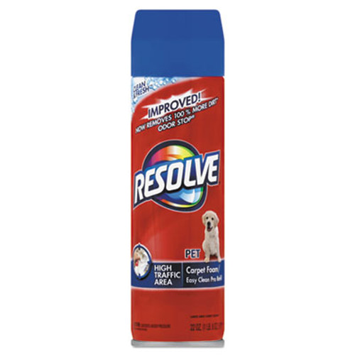 RESOLVE Pet High Traffic Foam Carpet and Upholstery Cleaner, 22 oz, Aerosol, 12/Carton (RAC83262CT)