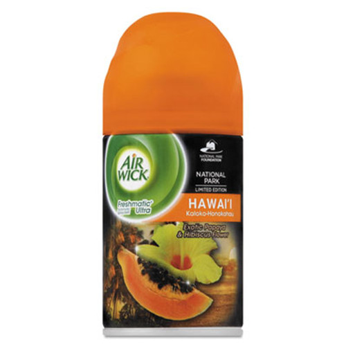 Air Wick Freshmatic Ultra Spray Refill, Hawaii Exotic Papaya/Hibiscus Aerosol 6.17oz,6/CT (RAC85189CT)