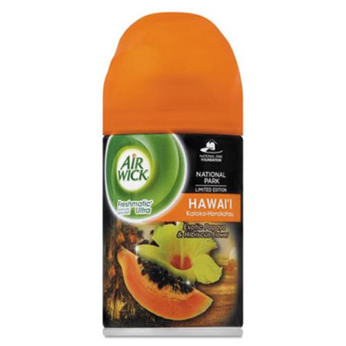 Air Wick Freshmatic Ultra Spray Refill, Hawaii Exotic Papaya/Hibiscus Aerosol 6.17oz,6/CT (RAC85189CT)