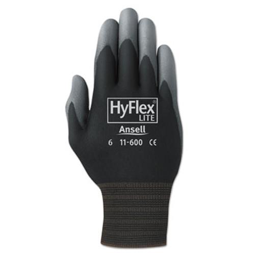 AnsellPro HyFlex Lite Gloves, Black/Gray, Size 8, Dozen (ANS116008)