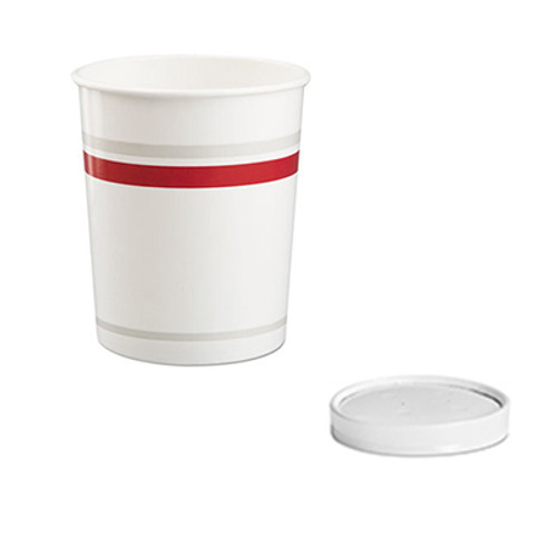 Chinet Paper Food Container with Vented Lid Combo, 32 oz, Polycoated, White, 250/Carton (HUH71867)