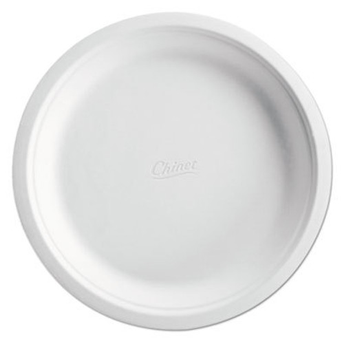 "Chinet Molded Fiber Dinnerware Plate, 6"" Dia, Enviro, 125 Pack, 8 Packs/Carton (HUHENVIRO1)"