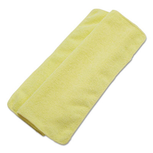 Boardwalk Lightweight Microfiber Cleaning Cloths, Yellow, 16 x 16, 24/Pack (BWK16YELCLOTH)