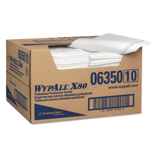 WypAll* X80 Foodservice Paper Towel, Spunlace, 13 1/2 x 24, White, 150/Carton (KCC06350)