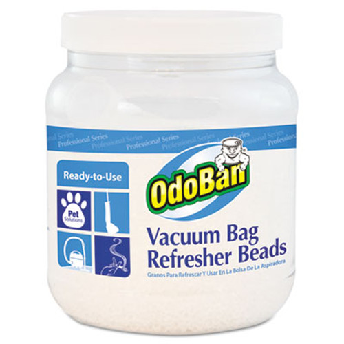 OdoBan Vacuum Bag Refresher Beads, Fresh Scent, 24 oz Jar, 12/Carton (ODO745A6224Z12)