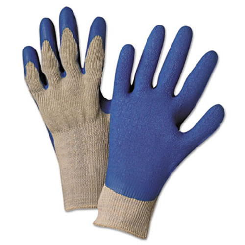 Anchor Brand 6030L Premium Knit-Back Latex-Palm, Gray/Blue, Large, Pair (ANR6030LPR)