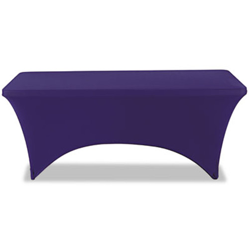 """Iceberg Stretch-Fabric Table Cover, Polyester/Spandex, 30"""" x 72"""", Blue (ICE16526)"""