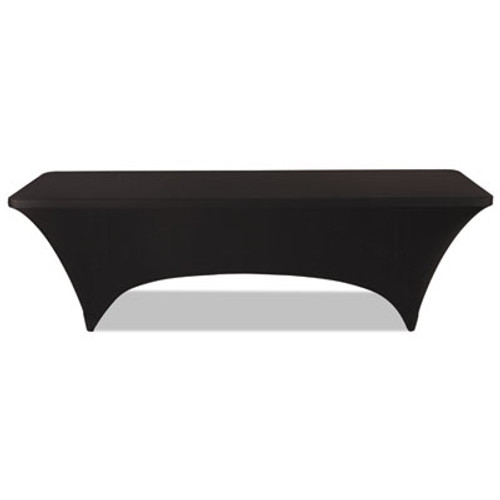 """Iceberg Stretch-Fabric Table Cover, Polyester/Spandex, 30"""" x 96"""", Black (ICE16531)"""