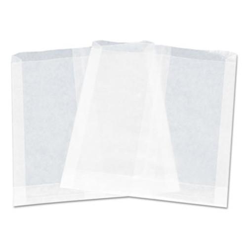 "Dixie Pouchless Maret Sandwich Bag, Paper, 7"" x 6"", White, 1000/PK, 6 PK/CT (DXE130TRANSPA)"