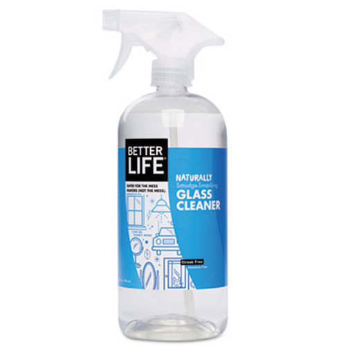 Better Life Naturally Smudge-Smacking Window Cleaner, Unscented, 32 oz Spray Bottle (BTR895454002010)