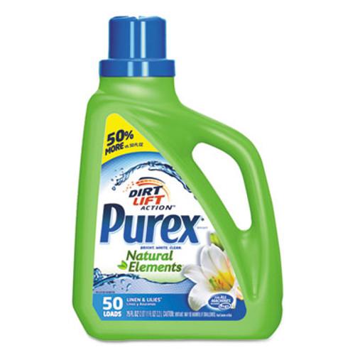 Purex Ultra Natural Elements HE Liquid Detergent, Linen & Lilies, 75oz Bottle,6/Carton (DIA01120CT)