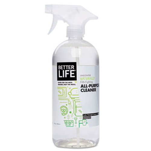 Better Life Naturally Filth-Fighting All-Purpose Cleaner, Unscented, 32 oz Bottle (BTR895454002003)