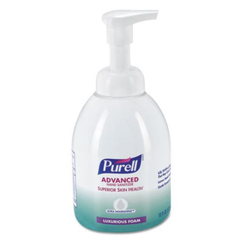 PURELL Advanced Hand Sanitizer Ultra Nourishing Foam, 18 oz Bottle, Fragrance Free (GOJ579904EA)