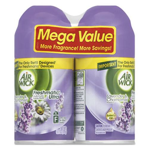Air Wick Freshmatic Ultra Spray Refill, Lavender/Chamomile, Aerosol 6.17 oz, 2/Pack (RAC85595PK)