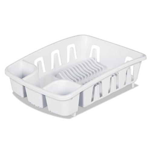 Office Settings Drain Rack, White, Plastic, 5 3/8 x 17 5/8 x 3 (OSIDR01WH)