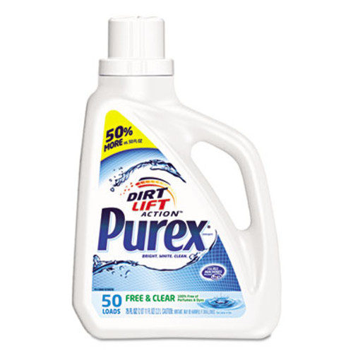 Purex Free and Clear Liquid Laundry Detergent, Unscented, 75 oz Bottle (DIA2420006040EA)