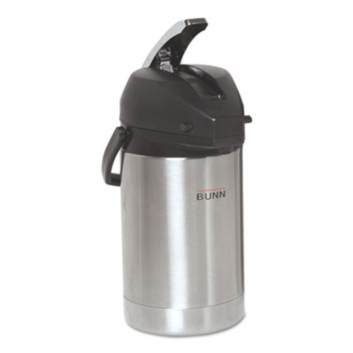 BUNN 2.5 Liter Lever Action Airpot, Stainless Steel (BUNAIRPOT25)