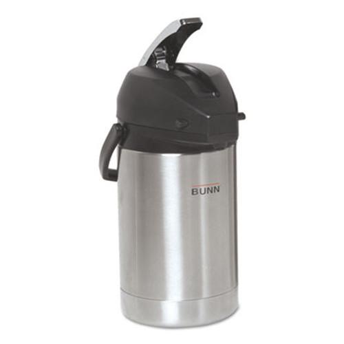 BUNN 2.5 Liter Lever Action Airpot, Stainless Steel (BUNAIRPOT25)