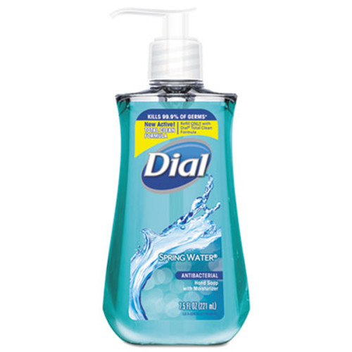 Dial Antimicrobial Liquid Hand Soap, Spring Water, 7.5oz Bottle,12/CT (DIA02670CT)
