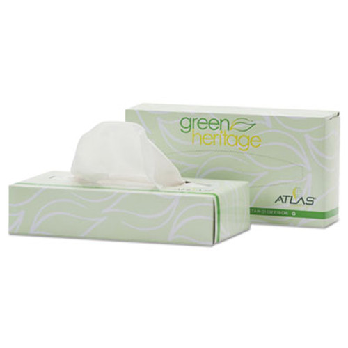 Atlas Paper Mills Green Heritage Facial Tissue, 2-Ply, White, 7 4/5 x 8, 100/Box, 72 Box/Carton (APM072A)