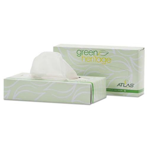 Atlas Paper Mills Green Heritage Facial Tissue, 2-Ply, White, 7 4/5 x 8, 100/Box, 72 Box/Carton (APM072A)