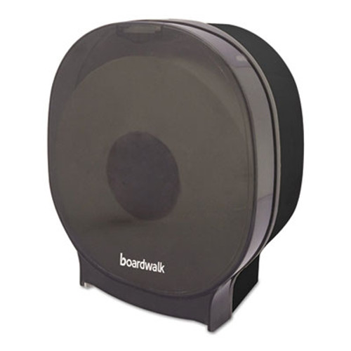 Boardwalk Single Jumbo Toilet Tissue Dispenser, 1 Jumbo Roll, Smoke Black,5.562x10x11 7/8 (BWKJT109SBBW)