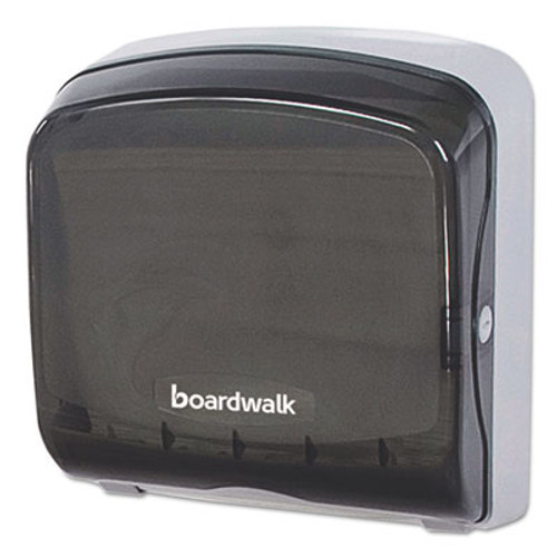 Boardwalk Mini Folded Towel Dispenser, 5 3/8 x 12 3/8 x 13 7/8, Smoke Black (BWKFT111SBBW)