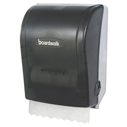 Boardwalk Hands Free Mechanical Towel Dispenser, 9 3/4 x 16 7/8 x 12 3/8, Smoke Black (BWKHF108SBBW)