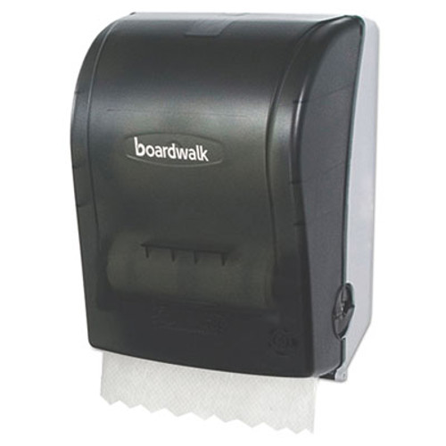 Boardwalk Hands Free Mechanical Towel Dispenser, 9 3/4 x 16 7/8 x 12 3/8, Smoke Black (BWKHF108SBBW)