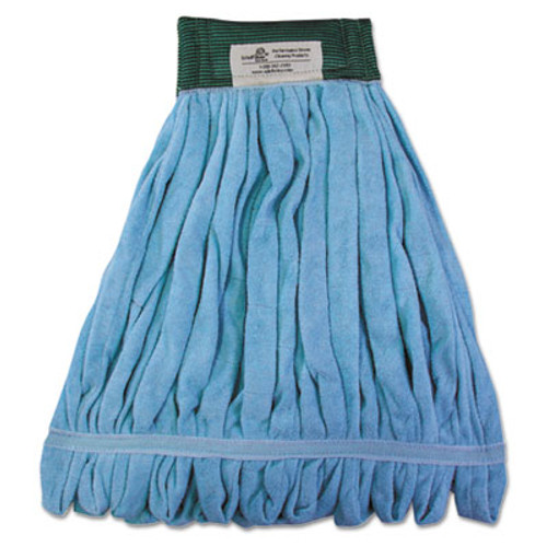 Boardwalk Microfiber Looped-End Wet Mop Heads, Medium, Blue, 12/Carton, 12/Carton (BWKMWTMBCT)