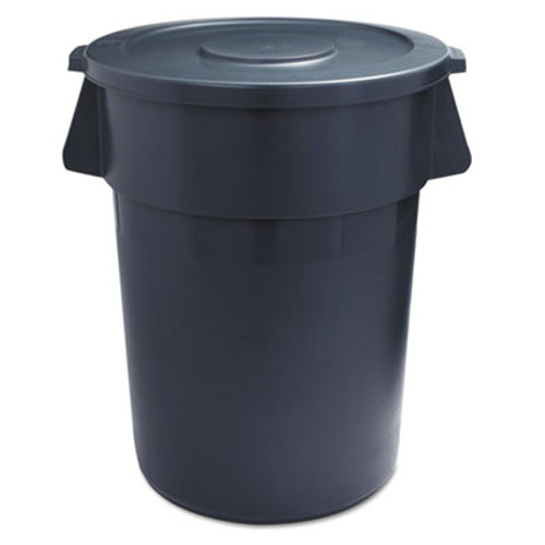 Boardwalk Lids for 44-Gal Waste Receptacles, Flat-Top, Round, Plastic Gray (BWK44GLWRLIDGRA)