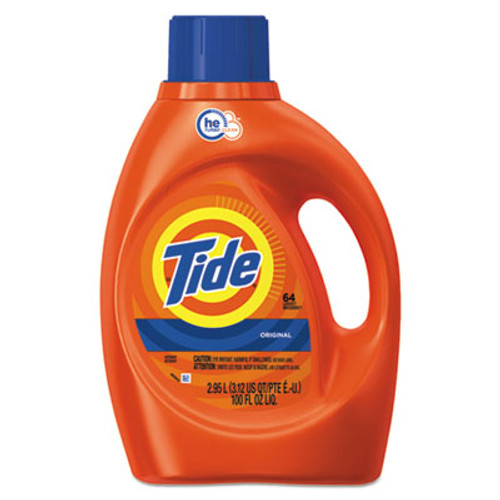Tide HE Laundry Detergent, Original Scent, Liquid, 100oz Bottle (PGC08886EA)