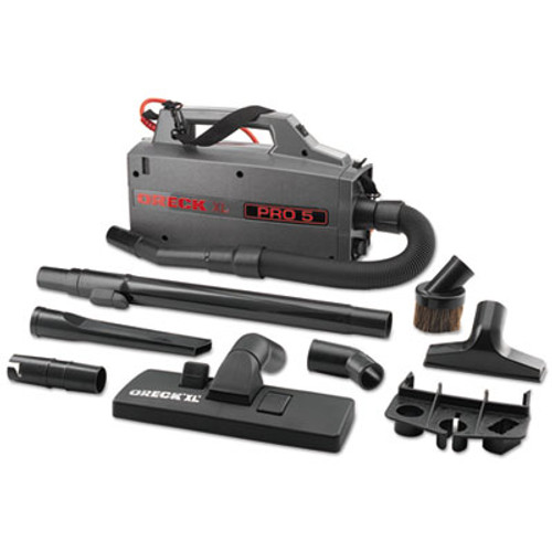 Oreck Commercial Commercial XL Pro 5 Canister Vacuum, 120 V, Gray, 5 1/4 x 8 x 13 1/2 (ORKBB900DGR)