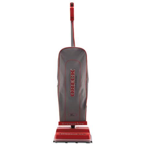 Oreck Commercial U2000RB-1 Commercial Upright Vacuum, 120 V, Red/Gray, 12 1/2 x 9 1/4 x 47 3/4 (ORKU2000RB1)