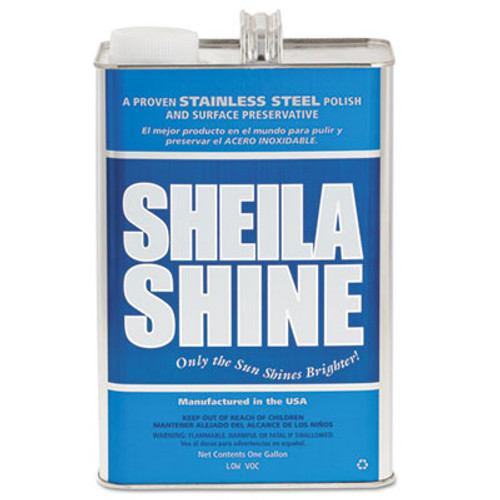 Sheila Shine Stainless Steel Cleaner & Polish, 1 gal Can, 4/Carton (SSISSCA128)