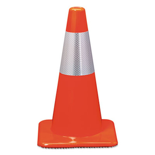 3M Reflective Safety Cone, 11 1/2 x 11 1/2 x 18, Orange (MMM90128R)
