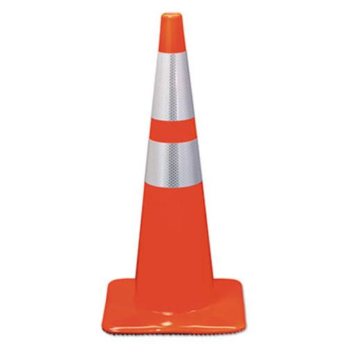 3M Reflective Safety Cone, 12 3/4 x 12 3/4 x 28, Orange (MMM90129R)